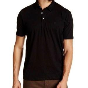 Volcom 'Banger' Black Classic Polo Shirt Mens Sz L
